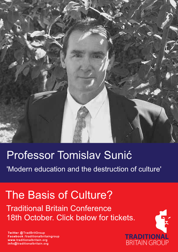 Traditional Britain Group Conference - Professor Tomislav (Tom) Sunic
