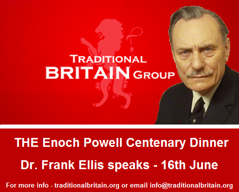 THE Enoch Powell Centenary Dinner - Dr. Frank Ellis speaks - 16th June