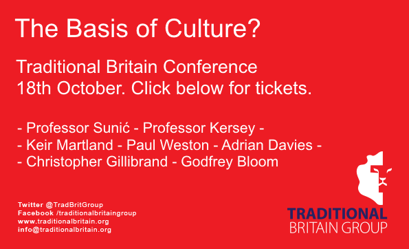 Last chance to get tickets - Traditional Britain Conference this Saturday - only £35