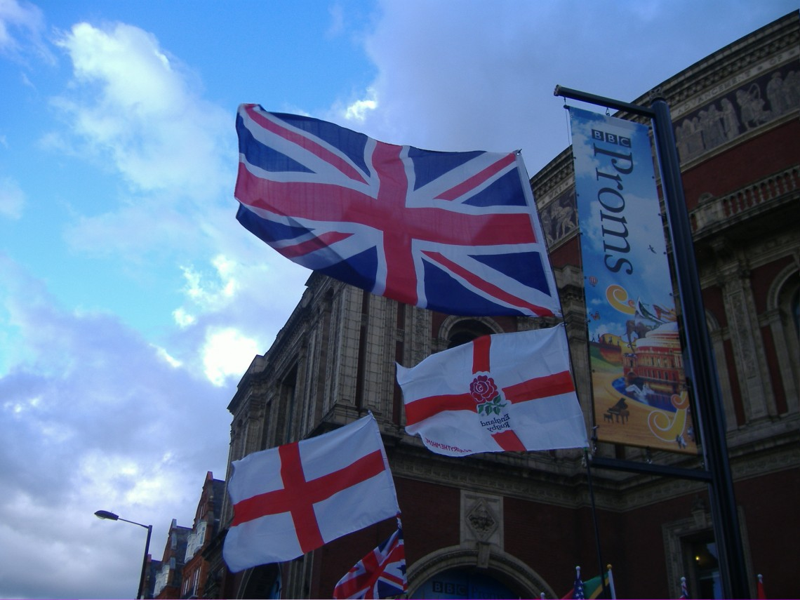 All flags flying at the Last Night of the Proms