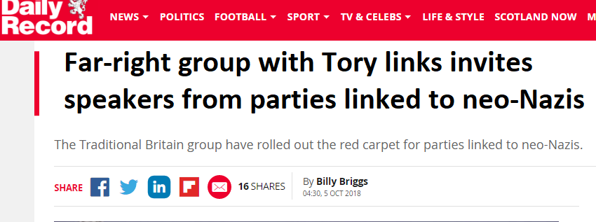 The Traditional Britain Group Refutes The Lies In The Daily Record