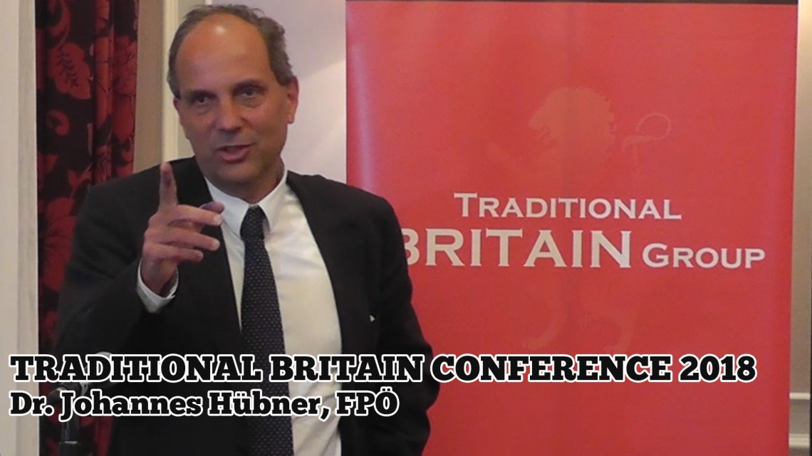Dr. Johannes Hübner, FPÖ. Traditional Britain Conference, 2018