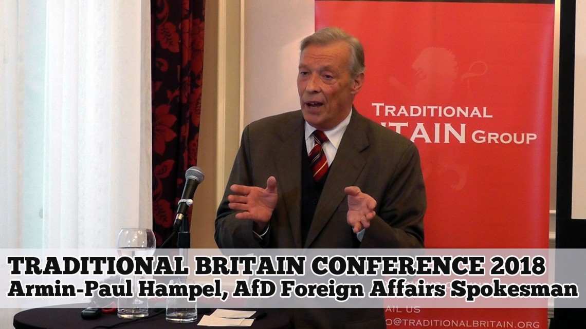 Armin-Paul Hampel, AfD, Traditional Britain Conference 2018
