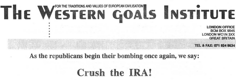 Archive: WGI Paper On IRA, 1996