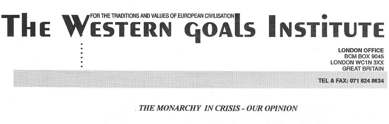 Archive: WGI Paper On The Monarchy In Crisis, 1996